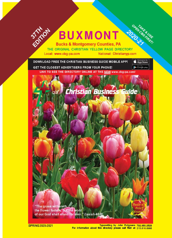 Christian Business Guide, -Buxmont Book Front Cover 2020